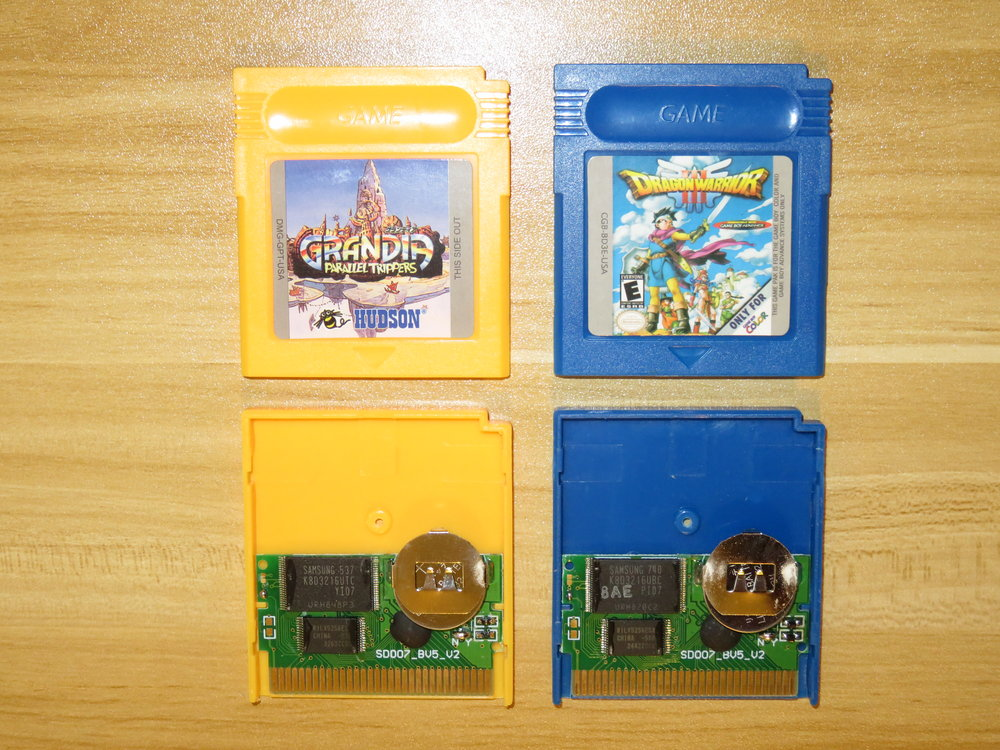 Inside of Game Boy Chinese cartridges.